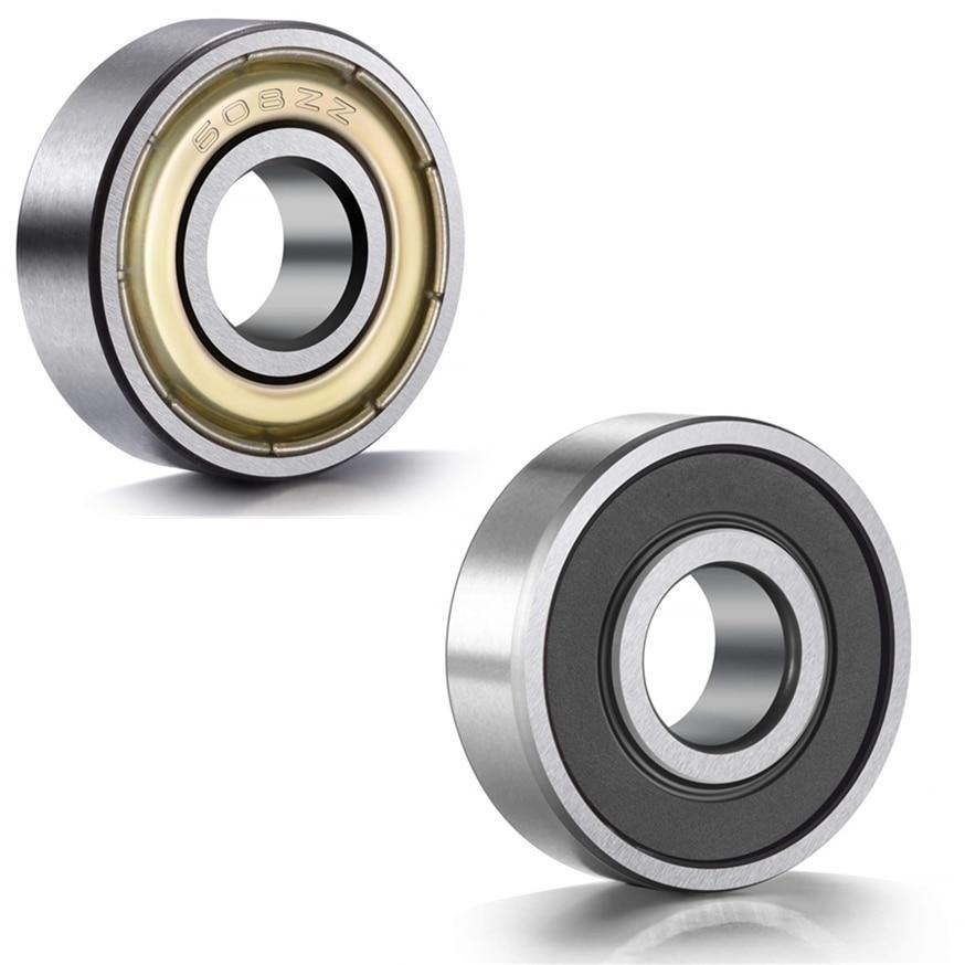 10pcs Double Shielded Miniature High-carbon Steel Single Row 608ZZ ABEC-7 Deep Groove Ball Bearing 8*22*7 8x22x7 MM 608 ZZ