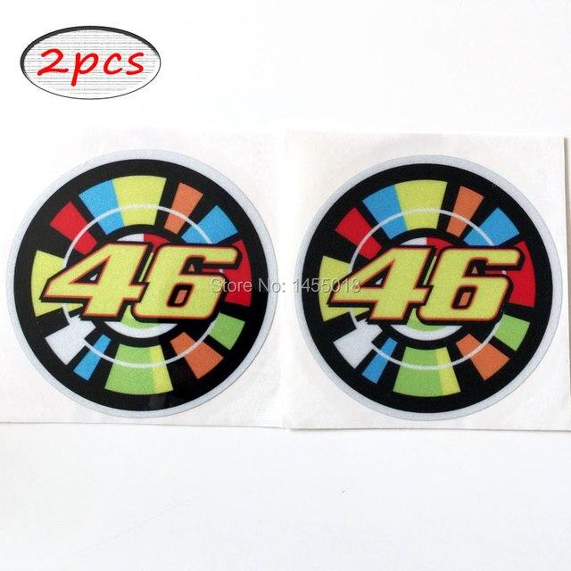 Us 599 2x Moto Gp Aufkleber Valentino Rossi 46 Aufkleber Racing Motorrad Aufkleber Mischfarbe Freies Fahrrad Aufkleber In 2x Moto Gp Aufkleber