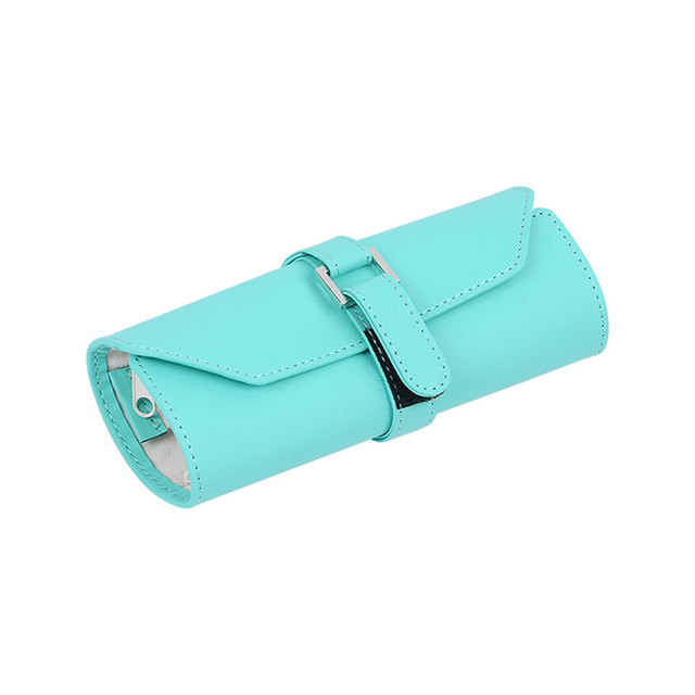 New Design Jewelry Bags Mint Green Jewelry Pouches Flannel Jewelry Pouch Travel Jewelry Roll Make Up Bags High Quality
