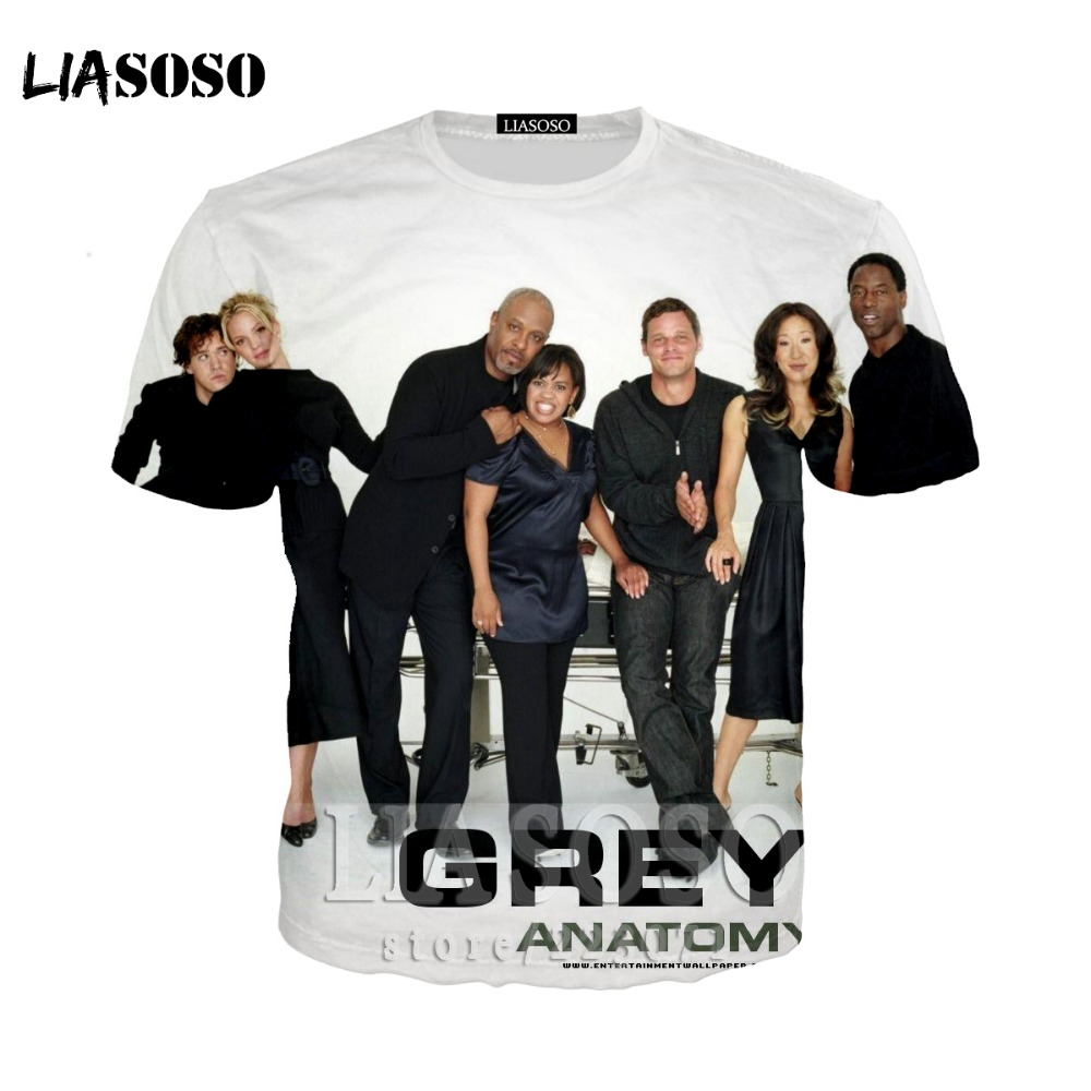 LIASOSO Anatomía de Grey T-Shirt mujeres InstagramT camisetas ...