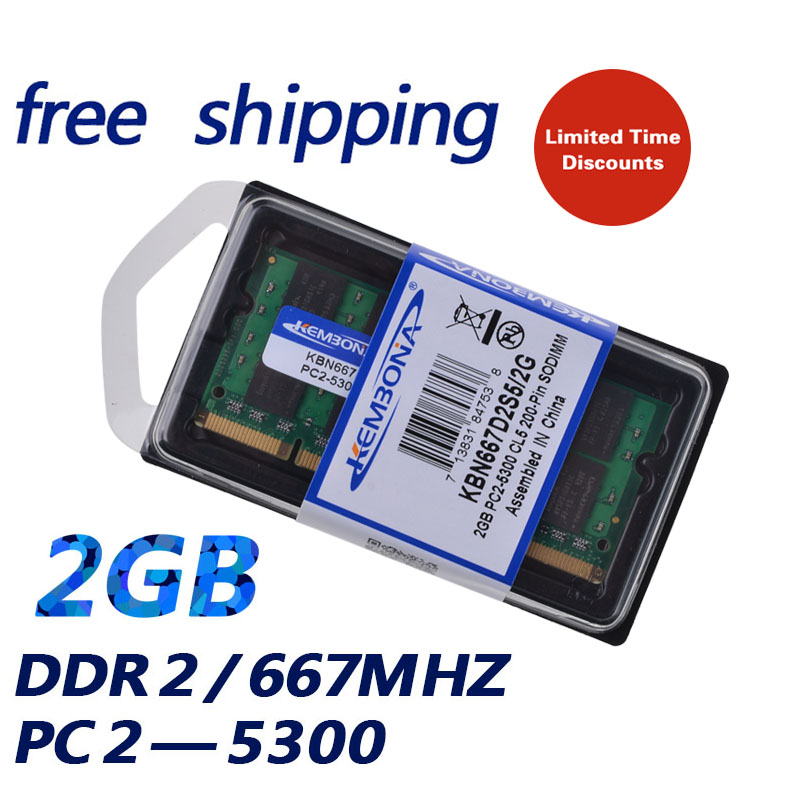 KEMBONA Original chipset ddr2 2gb ram 2g laptop sodimm 667MHz ram memory for Laptop best quality memory free shipping