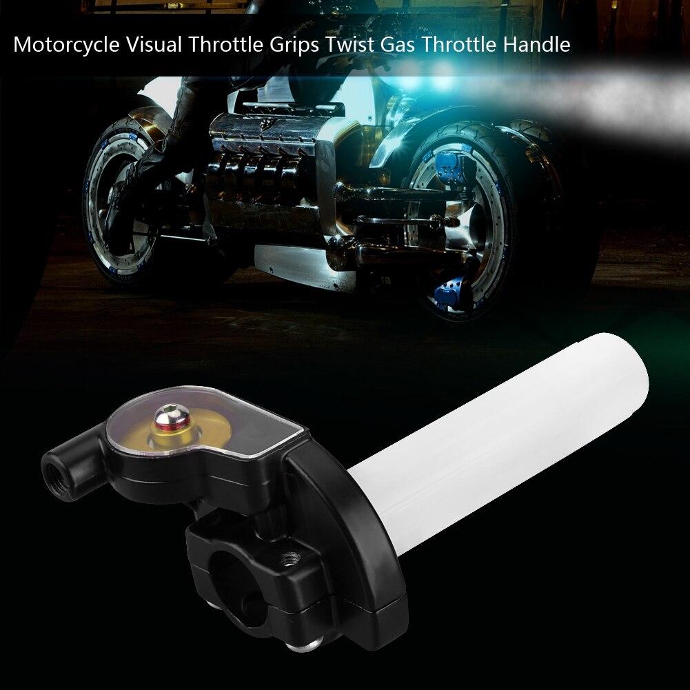 Free Shipping Motorcycle Parts Visual Throttle Grips Settle & Twist Gas Throttle Handle Dirt Pit Bikes ATV 50cc-160cc