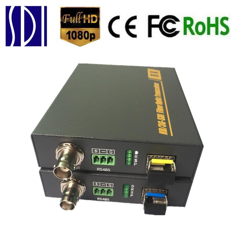 HD SDI Optical Transceiver Fiber To SDI Media Converter With RS485 3G SDI Fiber Optic Video Transmitter Receiver Over Fiber