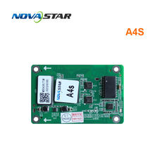 Nova ster ontvangende kaart A4S nova voor led RGB full color led video display ondersteuning 1/32scan gebruikt voor indoor en outdoor screen(China)