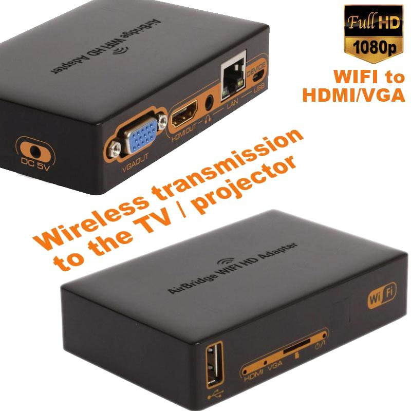 1080p wi fi to hdmi vga wireless wi fi adapter hdmi for Projector tv reviews