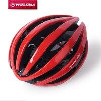 Winmax Capacete Da Bicicleta Com Luzes de Advertência LED PC + EPS Capacete de Ciclismo Ultraleve Estrada da Montanha MTB Bicicleta Capacete