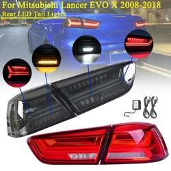 LED Achterlicht voor Mitsubishi Lancer EVO x 2008-2017 Stop Achter Led-achterlicht Remlicht Lamp Links Rechts side LED Knipperlichten