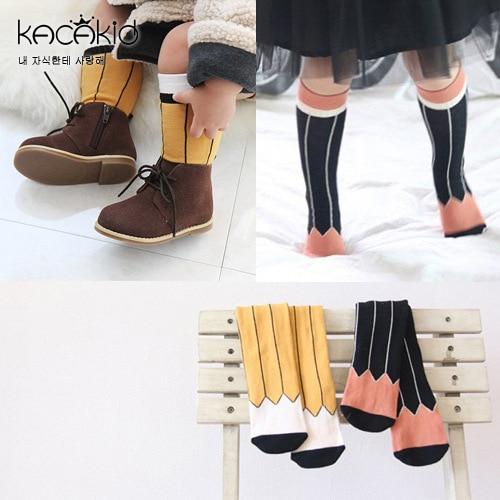 KACAKID Children Stockings Unisex Geometric Baby Boy Girl Children Stockings Cotton Anti-slip Kids Boy Stockings Leggings Ka1109