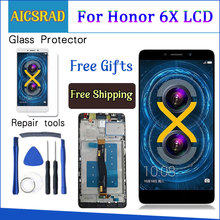 AICSRAD LCD Display For Huawei Honor 6X BLN L24 BLN AL10 BLN L21 BLN L22 touch screen Digitizer Assembly Frame with Free Tools