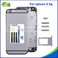 """1 pcs 4.7 """"de metal original de volta habitação tampa porta traseira tampa da bateria para iphone 6 6g + botão lateral + sim bandeja de cartão + conjunto de ferramentas"""