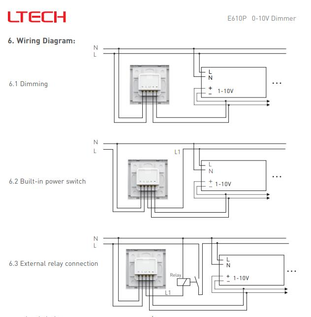 Detail Feedback Questions about LTECH E610P AC 110V / 220V Input 5A on digital dimmer circuit diagram, step dimming ballast wiring diagram, recessed lighting wiring diagram, dimmer switch installation diagram,