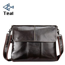 Mens Genuine Leather Shoulder Bag Briefcase IPad Male Crossbody bags Cross section Messenger Brand Design Fashion