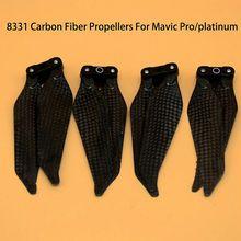 Новое поступление 8331F складной низкая-Шум Пропеллеры с Полный Carbon Волокно 8331 Пропеллеры для dji Мавик Pro и платины Drone интимные аксессуары