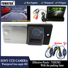 FUWAYDA Auto Parking Reversing CCD Car Rear View Camera With 4.3 inch Car Rearview Mirror Monitor For KIA SORENTO SPORTAGE