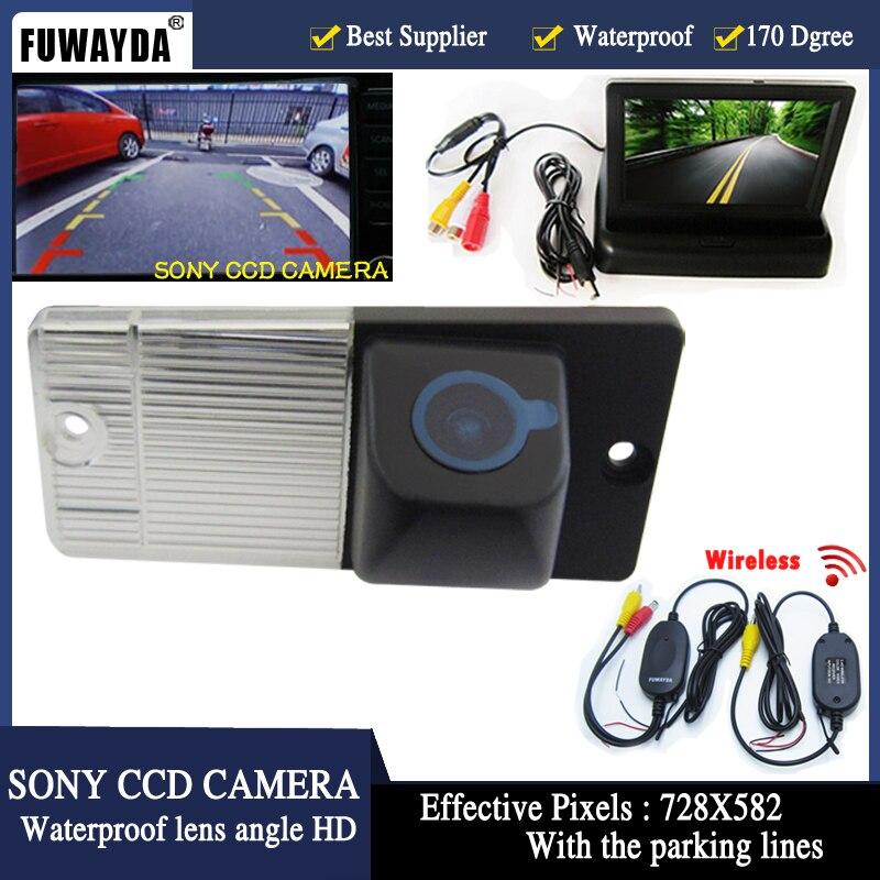 FUWAYDA Auto Parking cofania CCD widok z tyłu samochodu kamera z lusterko wsteczne samochodowe 4.3 cala lustro Monitor dla KIA SORENTO SPORTAGE w Kamery pojazdowe od Samochody i motocykle na title=