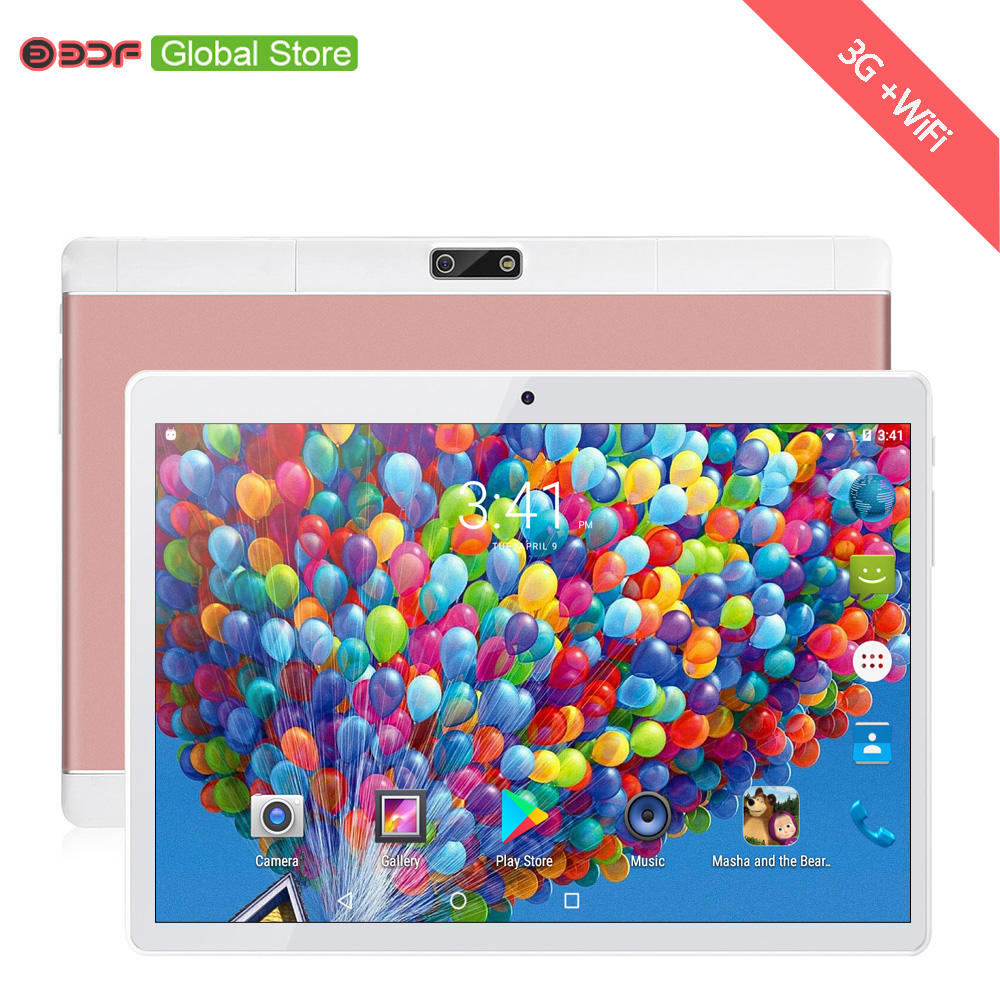 10 Inch Android 6.0 Cell Mobile Phone 2G 3G Sim Card Tablet Pc 2GB RAM+16GB ROM Quad Core FM WiFi Internet Free Leather Cover