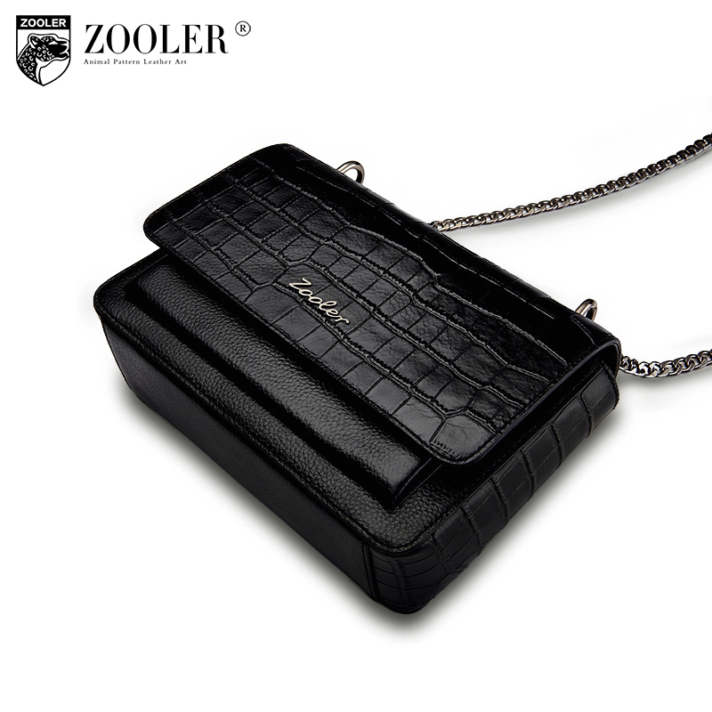 ZOOLER Fashion genuine leather bag luxury cowhide shoulder bags 2018 new chain women messenger bag lady bolsa feminina #B136 zooler 2018 luxury genuine leather shoulder bag chain women bags designer hollow out shoulder bags bolsa feminina b183
