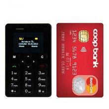 Ультра тонкий мобильный телефон Aiek M5 с карточками, Мини карманный студенческий персональный телефон, Bluetooth Dialer Celular PK C6 X6 X8