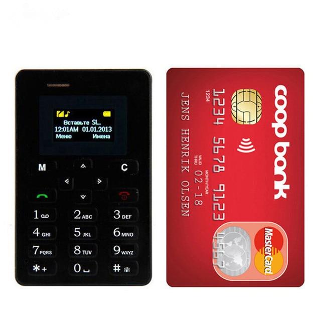 Ultra Thin Aiek M5 כרטיס נייד טלפון מיני כיס תלמידי אישיות טלפון Bluetooth חייגן Celular PK C6 X6 X8