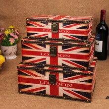 2015 new hot retro Union Jack British style wooden storage box set wholesale wooden storage box