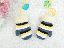 GLV1006 1 5 years old Children in winter to keep warm neck hung with rope stripe