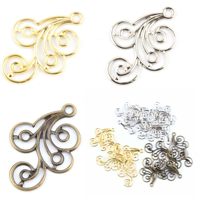 30pcs dark silver tone Butterfly connector  h3630