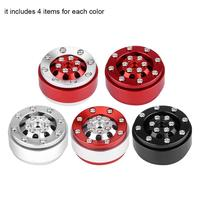 4pcs WPL1635 RC Car Aluminium Alloy Beadlock Wheel Hubs for WPL 1/16 Remote Control Military Truck RC Model Parts parts