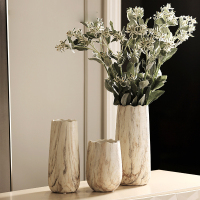 Chinese style Creative Ceramic Vase fashion design living room marble tabletop dry flower Vases Home Garden Decor