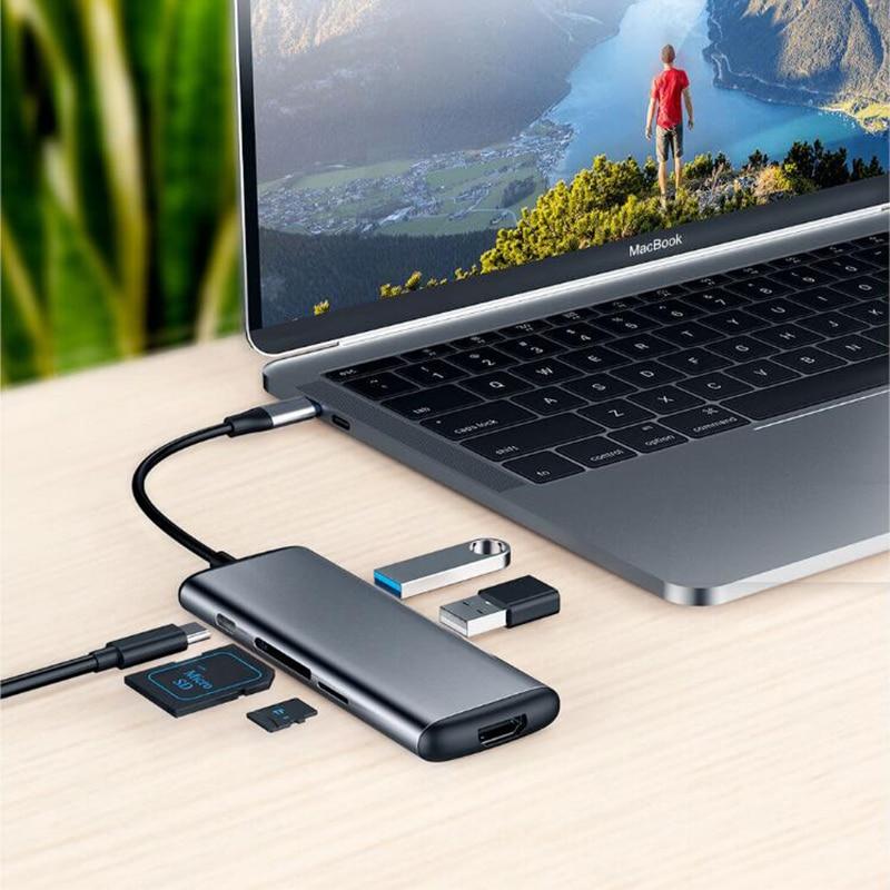 Xiaomi mijia Hagibis 6 in 1 Type c ถึง HDMI USB 3.0 TF SD Card Reader PD ชาร์จอะแดปเตอร์ HUB สำหรับ iPhone โทรศัพท์มือถือ-ใน รีโมทคอนโทรลอัจฉริยะ จาก อุปกรณ์อิเล็กทรอนิกส์ บน AliExpress - 11.11_สิบเอ็ด สิบเอ็ดวันคนโสด 3