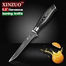 XINZUO 5,5 zoll boning messer Damaskus küchenmesser super scharf japanischen VG10 kochmesser küche werkzeug-freies verschiffen