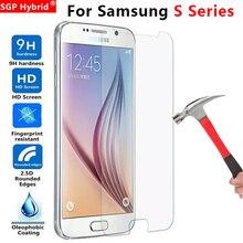 Защитный Стекло для samsung S7 S6 S5 S4 S3 S2 закалённое защитное стекло на Galaxy S 7 6 5 4 3 2 фотоаппаратов моментальной печати 7s 6s 5 S 4 S 3s 2 Экран защитная пленка