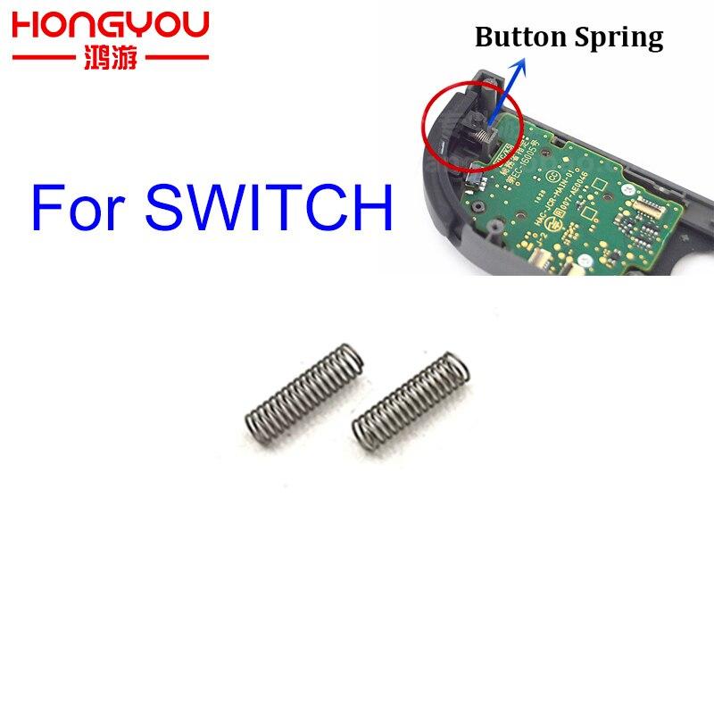 2 шт. Левая Правая пружина кнопки LR ZL ZR для контроллера Nintendo Switch NS Joy-Con, Запасная часть