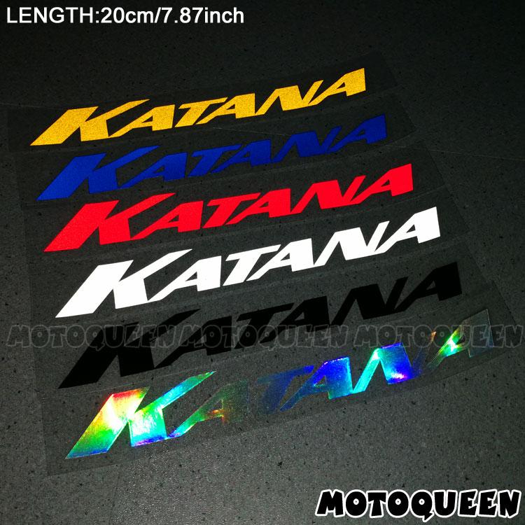 Motorcycle Accessories Decoration Wheels Fairing Helmet Side Tank Pad  Label Stickers Reflective Decals For SUZUKI KATANA
