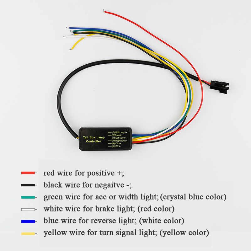 อุปกรณ์เสริม LED Strip แสงด้านหลังไฟท้าย Dynamic Streamer เลี้ยวสัญญาณเตือนย้อนกลับไฟสัญญาณหลอดไฟ
