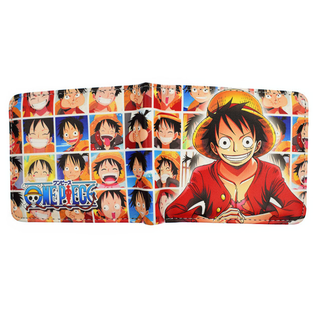 One Piece Luffy Law Ace Purse Wallet
