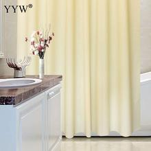 Beige Color Shower Curtains Polyester Waterproof Bathroom 3d Large Bath Screens Curtain