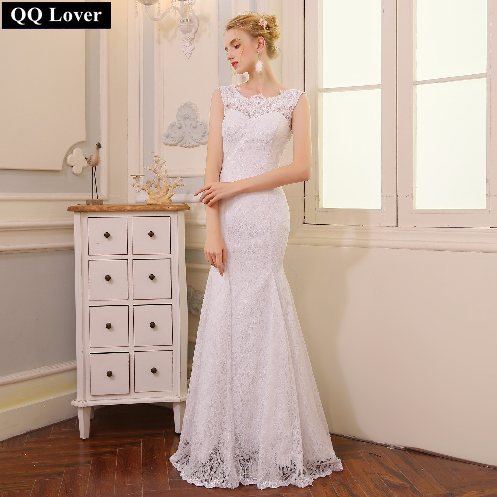 QQ Lover 2018 Mermaid Wedding Dress Cheap Vestido De Novia Wedding Gown 2018