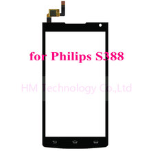 4.5″ Black TP for Philips S388 Touch Screen Digitizer Front Glass Panel No LCD Replacement Separate Part Free Shipping+Tools