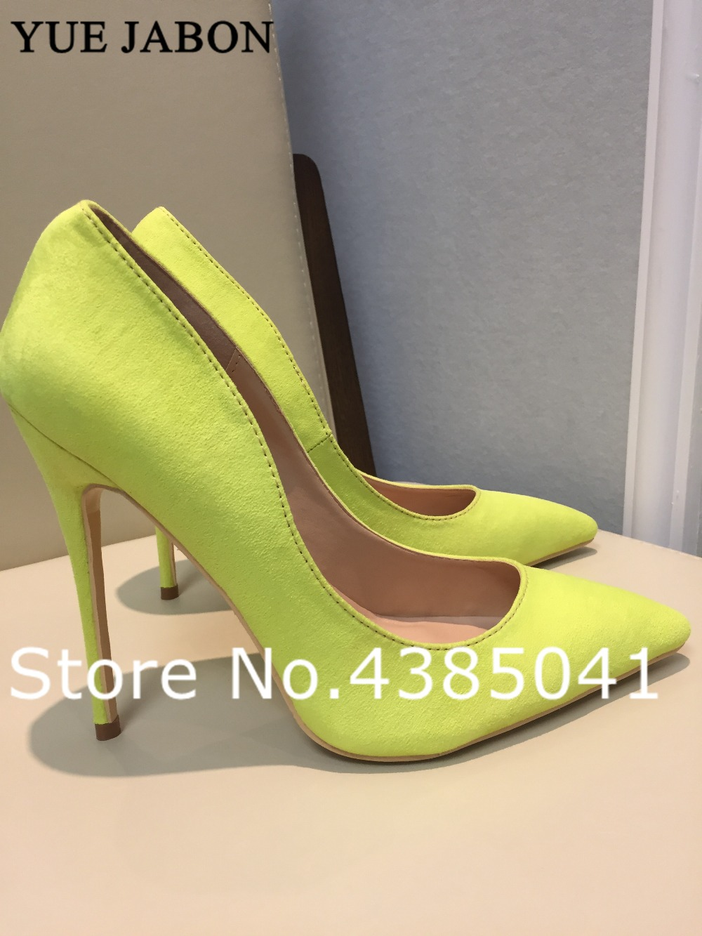 Bright Yellow Matte High Heels Sexy Women Shoes 2019 Suede Pointed Toe Women Pumps Wedding Party