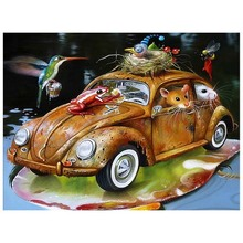 MOYOU 5D DIY Diamond painting animal car Cross stitch  Full Square Diamond embroidery  set  Diamond mosaic colorful autos Crafts недорого