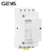 Free Shipping GEYA GYHC 4P 16A 4NO OR 2NO2NC 220V/230V 50/60HZ Din rail Household AC Modular Contactor стоимость