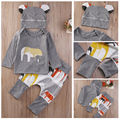 Newbron Baby Boys Organic Clothes Cotton Knit Tops Harem Pants Outfits Sweat Set
