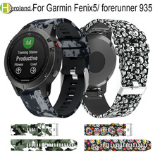 watch band strap For Garmin Fenix 5 forerunner 935 Quick Release 22mm Printed Silicone Replacement Wrist Band Easyfit strap матвеев с английский язык грамматический тренажер