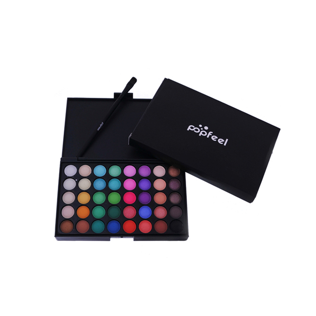 New Pigments Matte Eyes Shadow Palette Makeup Sets With Brushes Waterproof 40 Color Smoky Eyeshadow Glitter Palette Nude Makeup 5