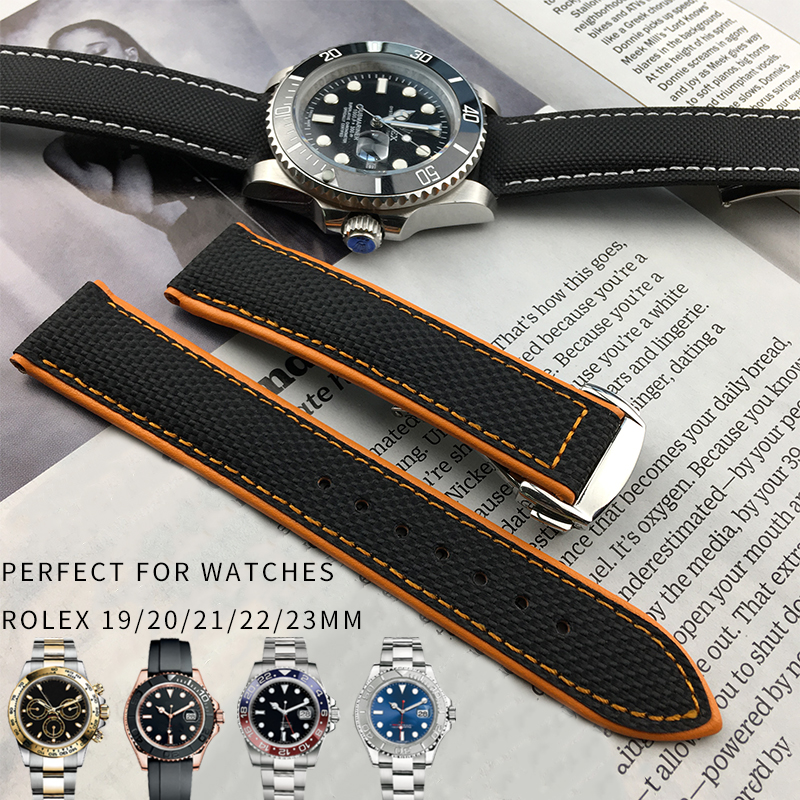 19/20/21/22/23mm Nylon Watch Strap High Quality Fashion Sport Watchband Suitable for Role Submariner Omega Tudor Watch Bracelets