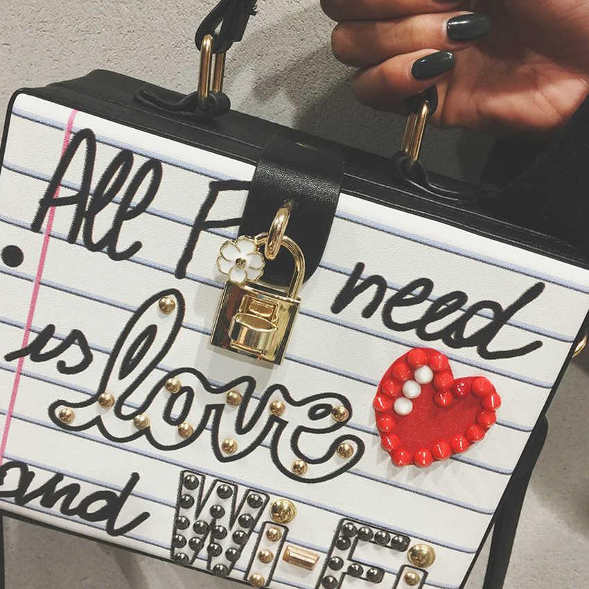 Новое поступление, модная повседневная женская сумка для вечеринок с буквенными бриллиантами и жемчужными заклепками, женская сумка через плечо, сумки-мессенджеры