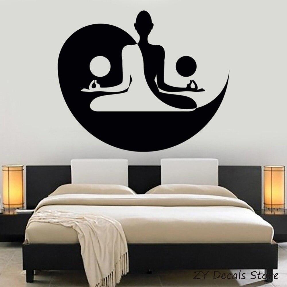 Yin Yang Kunst Aufkleber Yoga Zen Meditation Schlafzimmer Decor