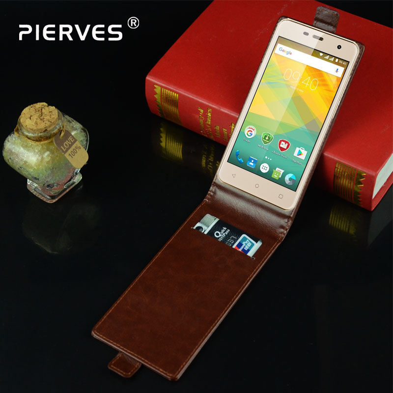 Pierves Luxury Card Slot flip cover PU Leather Case For <font><b>Prestigio</b></font> Muze G3 Lte <font><b>PSP3511</b></font> image