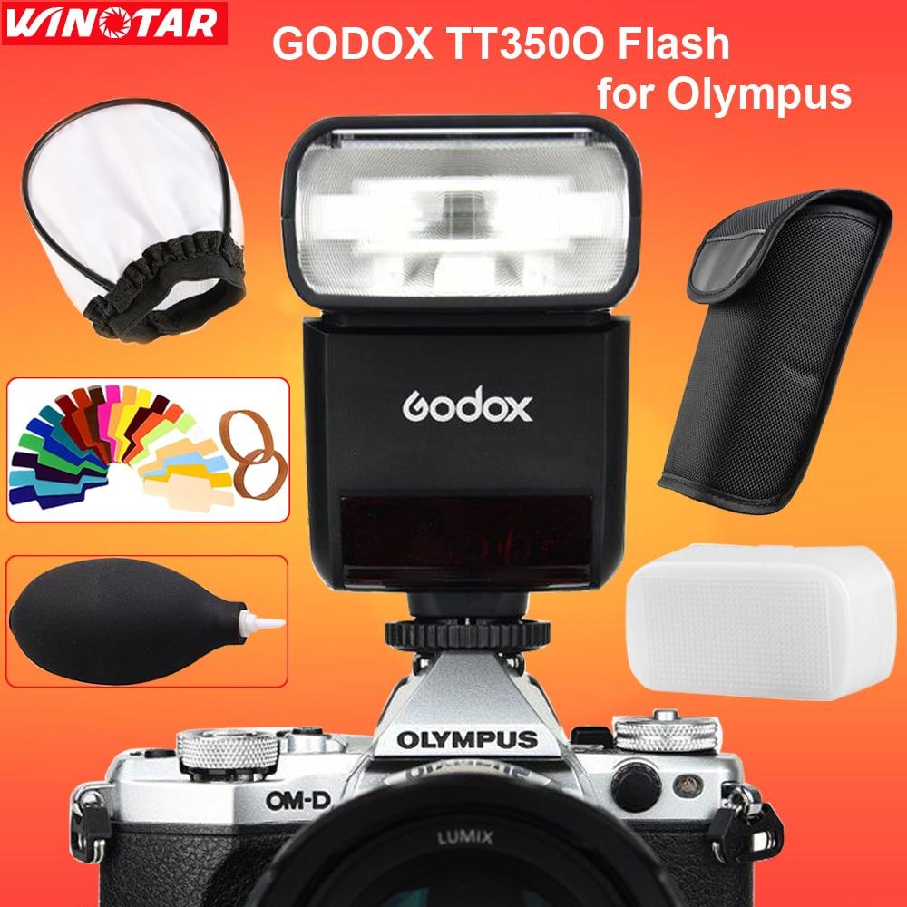 Godox TT350 Mini Flash Speedlite TT350O TTL HSS GN36 for Olympus E-M10II E-M5II E-M1 E-PL8 E-PL7 E-PL6 E-PL5 E-P5 E-P3 PEN-F olympus olympus pen f 1718k фиксированный фокус пакет объектива черный 20 мегапиксельной встроенной wifi пятикоординатной стаб
