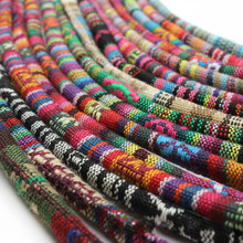 5 jardas/saco 6mm algodão pano núcleo corda colorida redonda corda de pano feito à mão corda decorativa para diy
